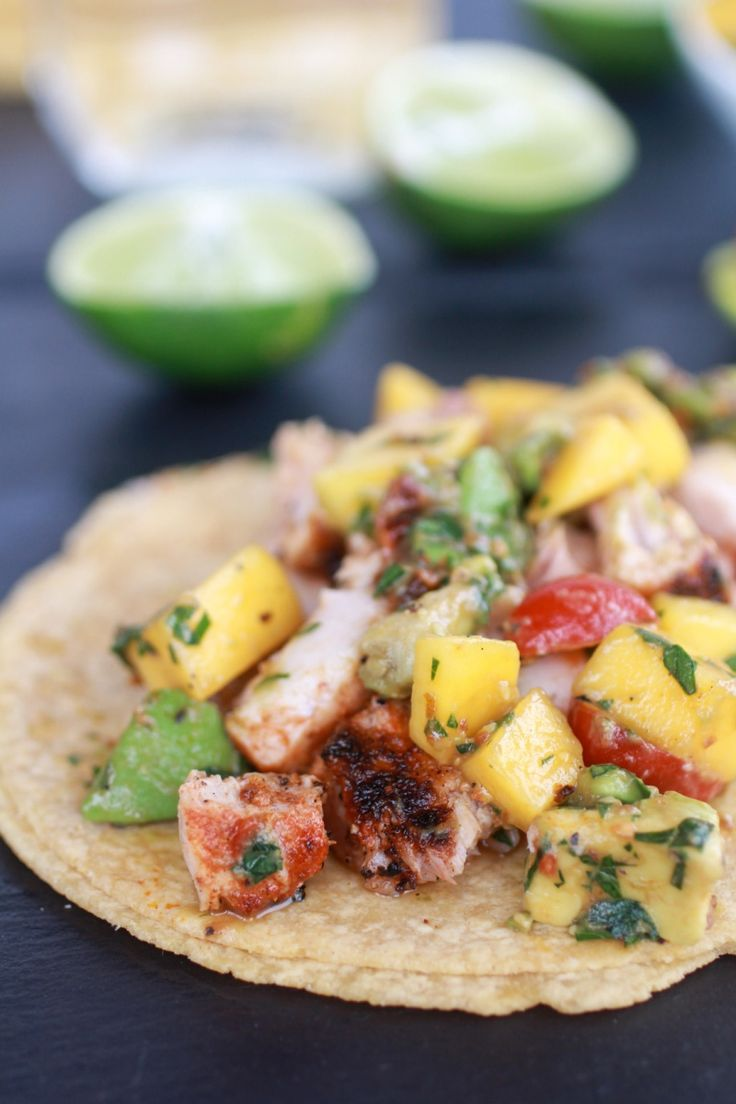 Mahi Mahi Fish Tacos with Chipotle Mango Salsa | Oh I loved this. Mangos and chipotle are the best combo ever. The sweet and spicy go hand and hand. Again I could totally just eat this with a spoon or my hands. Yeah, I totally used my hands and ate every single piece of chipotle covered mango and tomato. So good! | From: halfbakedharvest.com