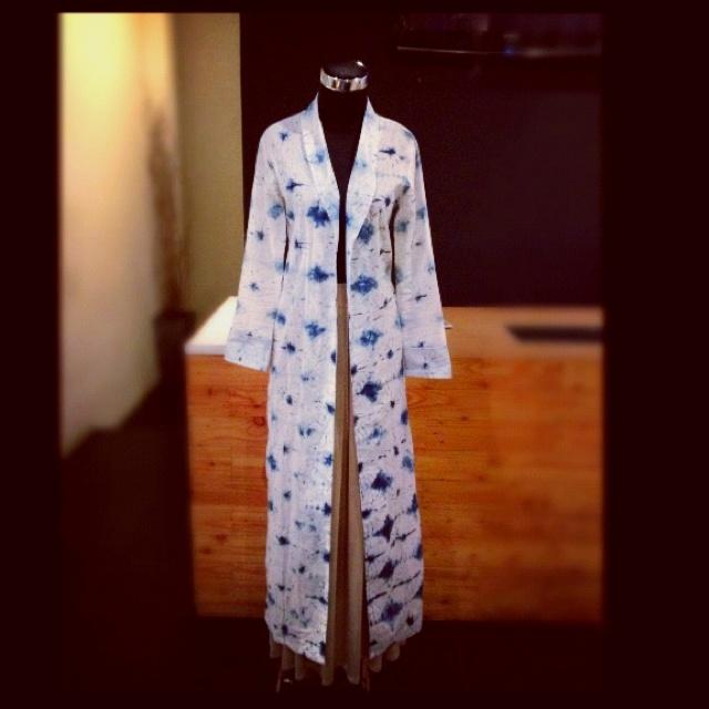 Shibori long blazer from NurZahra Indonesia.  Seperti kebaya yang dijadikan cardigan/blazer.