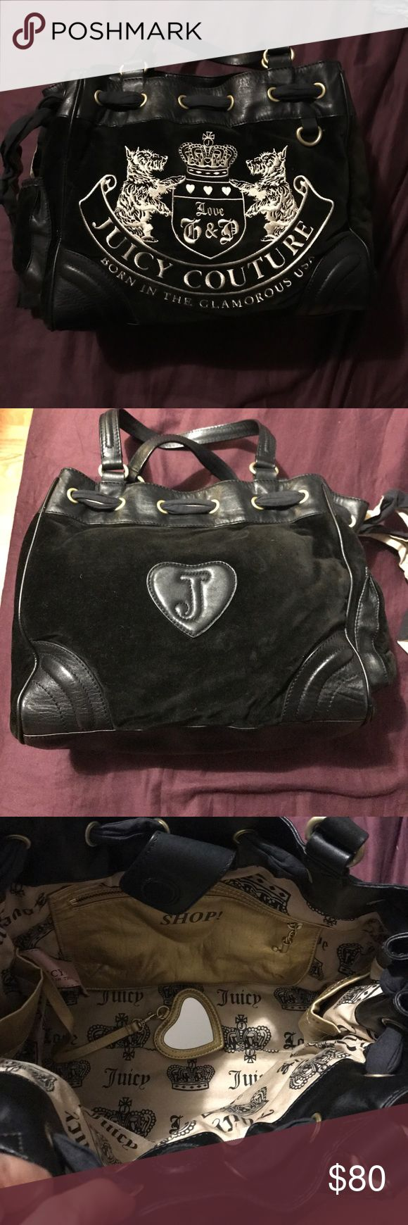 Juicy couture handbag Bag was used for a year. There's a little rip on the bottom as shown on picture. Juicy Couture Bags Shoulder Bags