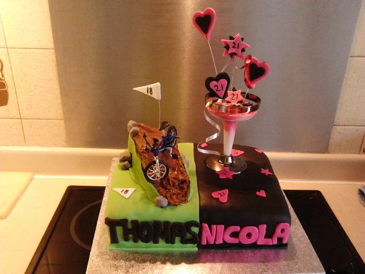 15 best Joint birthday cakes images on Pinterest Conch fritters
