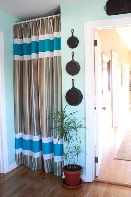A Pantry Curtain Instead Of A Door With Images