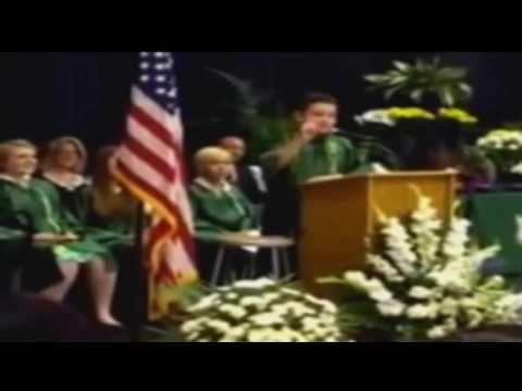 8th grade graduation speaker imitates Trump, Clinton, Obama