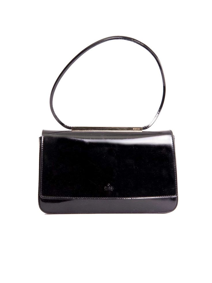 Gucci | Patent Leather Evening Bag in black www.sabrinascloset.com