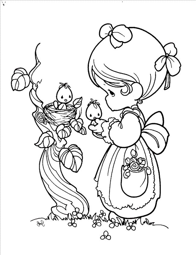 precious moments easter colouring pages