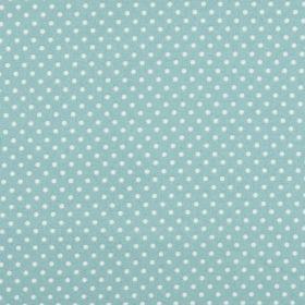 Puncte albe mijlocii pe fond bleu - Materiale textile online