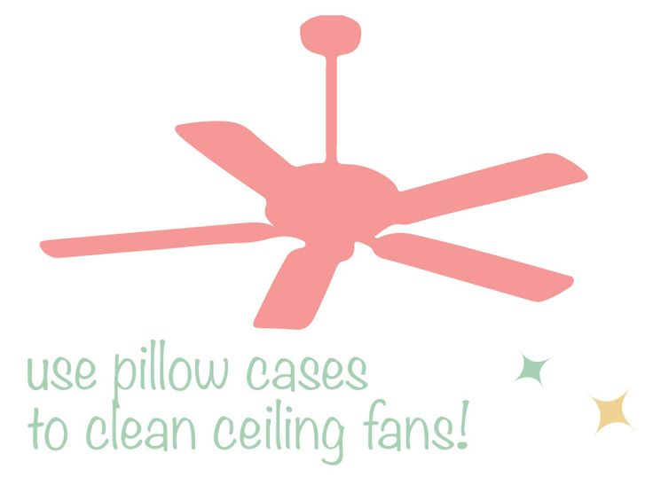 Clean Ceiling Fans with Pillow Cases - Clean & Proper
