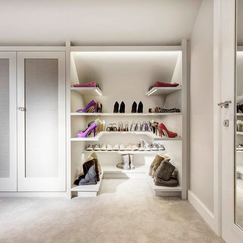Sloped Ceiling Storage & Closets Design Ideas, Pictures, Remodel and Decor