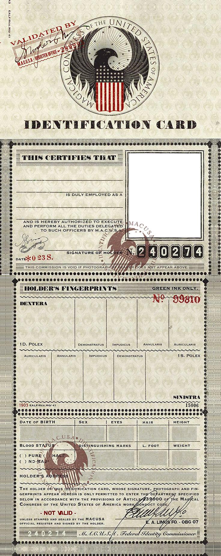 M A C U S A Identification Card Template Png By Myrlena Id Card Template Card Template Identification Card