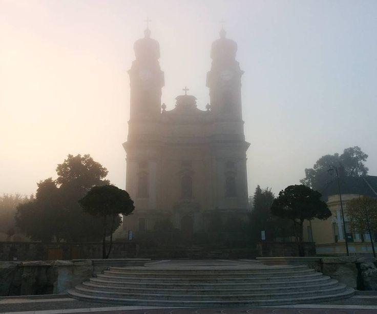 Reggeli futtomban kattintottam, fantasztikus volt, ahogy a ködfüggönyön átszűrődtek a fények az egész városban ❤🍁  #mobilephoto   #ig_hun   #ikozosseg   #mik   #travelhungary   #kossutht ér  #Tata   #morningtimes   #autumnmood   #october   #ig_autumn   #gotowotk