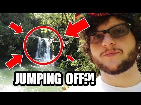 MAN JUMPS OFF HAWAIIAN WATERFALL?! | Hawaii Vlog Episode Two