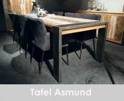 Industriele tafel Asmund van oud hout - Steigerhout Furniture | Unieke steigerhouten meubelen & tuinmeubelen op maat gemaakt!