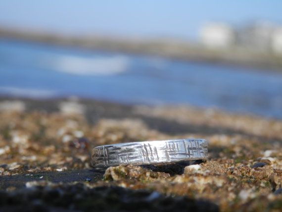 """Sterling Silver """"A maze in"""" stacking ring. Irish Handmade contemporary Jewellery."""