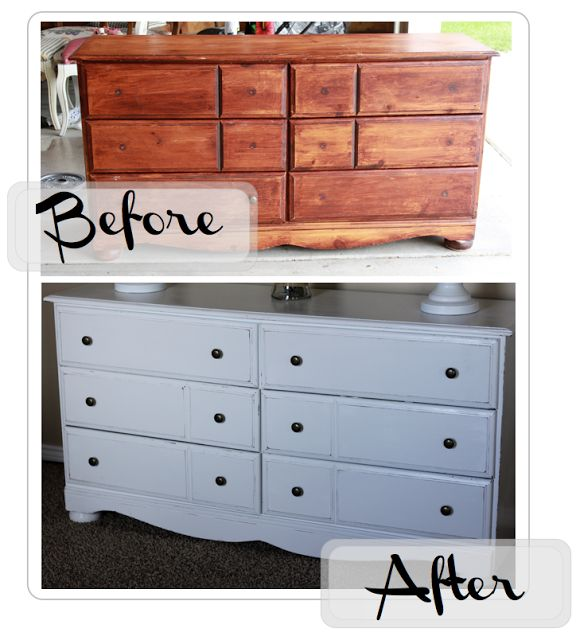 DIY Painting Solid Wood Furniture White/ How to Distress White Furniture  do it