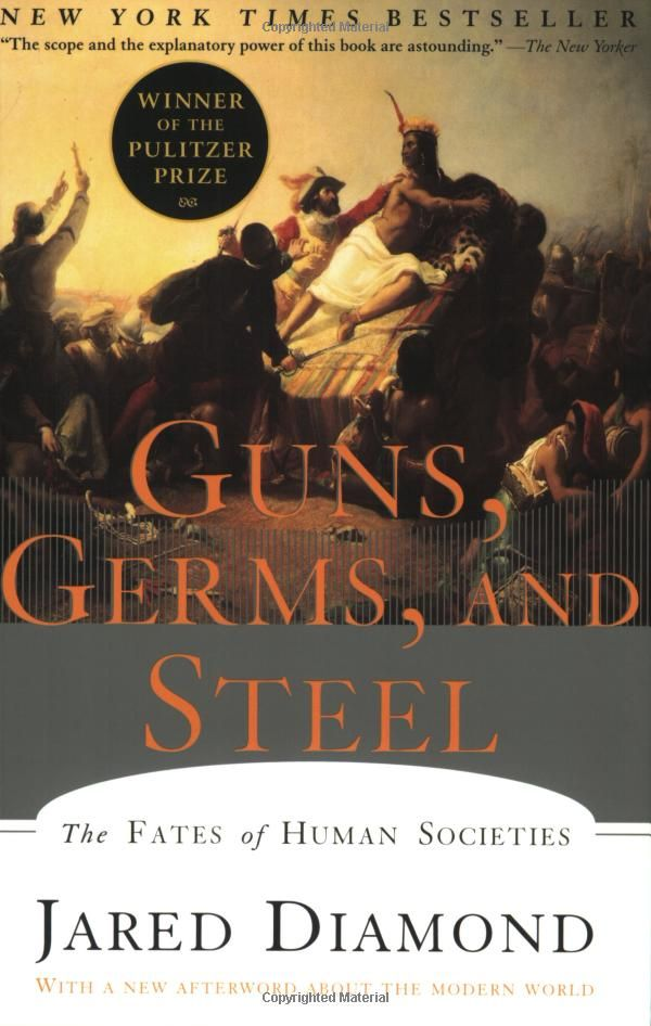 Guns, Germs, And Steel by Jared Diamond.    Great book attempting to explain why Eurasian civilizations have been overall more successful, attributing the success not to the inherent genetic superiority but rather to environmental differences.