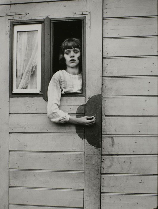 August Sander, Young Girl in Circus Wagon, 1929