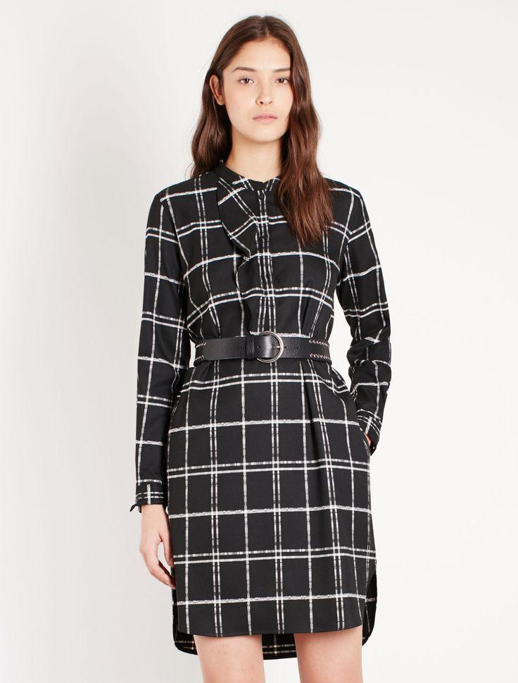 Patterned dress, black - Marella
