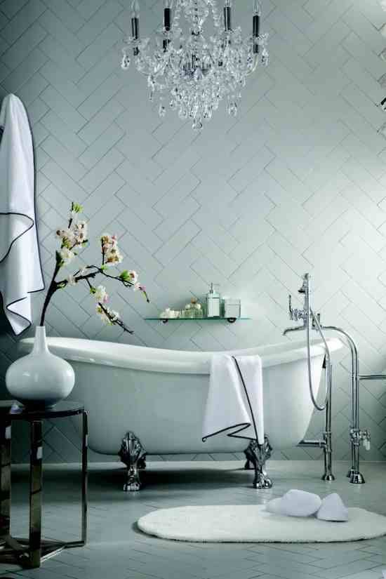 Elegant bathroom with roll top bath by Clearwater. This is what I would love in my next home a proper bath tub!