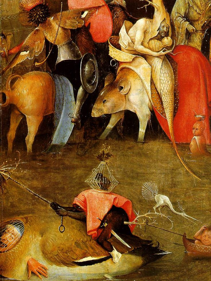 Hieronymus Bosch ~ Temptation of Saint Anthony - detail of the central panel