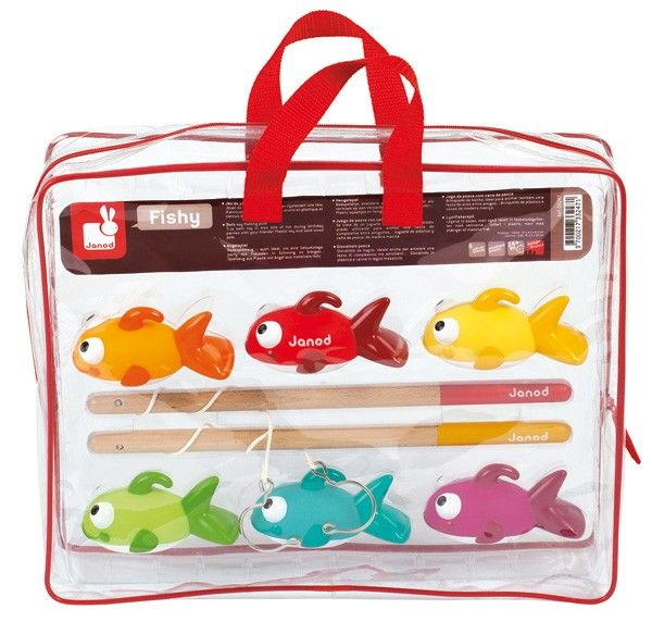 Janod - Fishy Fishing Bath Game Wonder if we'd have any more luck catching these? #EntropyWishList #PinToWin