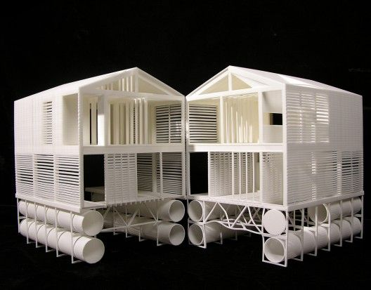 A really nice model that splits in half. Floating House MOS Architects 2005 Ontario, Canada