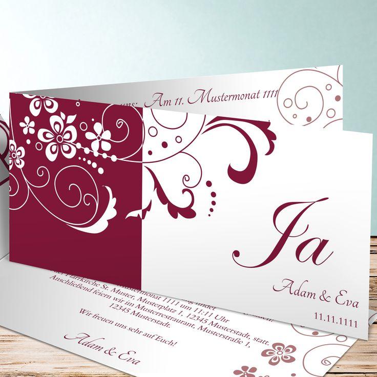 Ein Schönes Beispiel Für Günstige Einladungskarten: Diese Klappkarte Mit  Blumen Design Ist Schön,