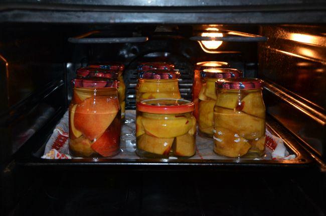 zavařování trouba hrušky jablka - einkochen im Backofen
