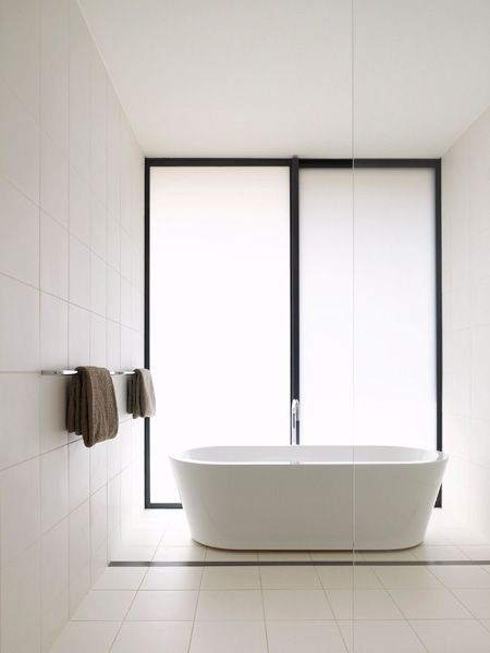 Beautiful bathroom. Country Victoria Modular House by Australian architects Carr…