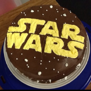 Star Wars cake - Justin Bieber and Gangnam Style got the boot and now Ruby wants Star Wars