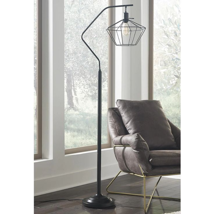 Signature Design by Ashley Makeika Metal Floor Lamp in