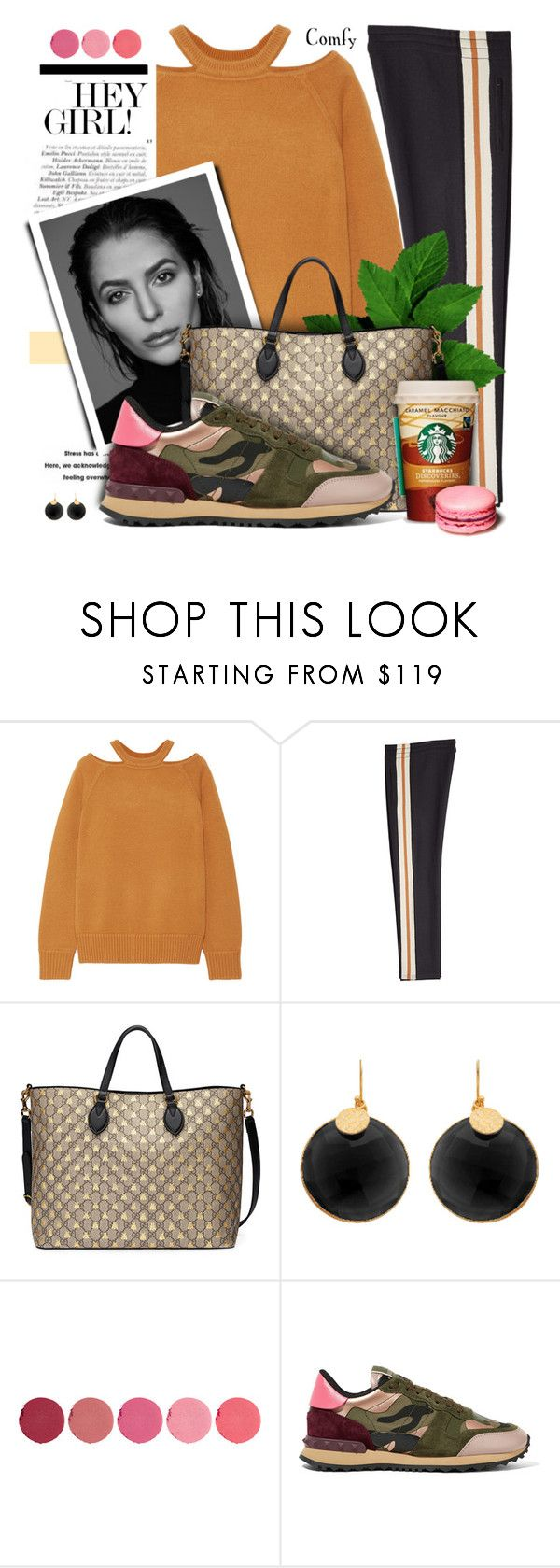 """""""Comfy Clothes contest"""" by angiesprad ❤ liked on Polyvore featuring Jason Wu, Étoile Isabel Marant, Current Mood, Gabriella, Gucci, Kjaer Weis and Valentino"""