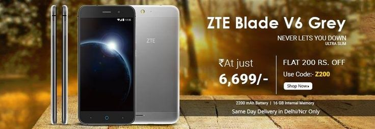 Don't Miss Out #ZTE #BladeV6 Grey only at Rs6699/-#2200mAh #Battery, 16 GB Internal MemoryBuy Now: http://bit.ly/2skN2Q9 #Togofogo