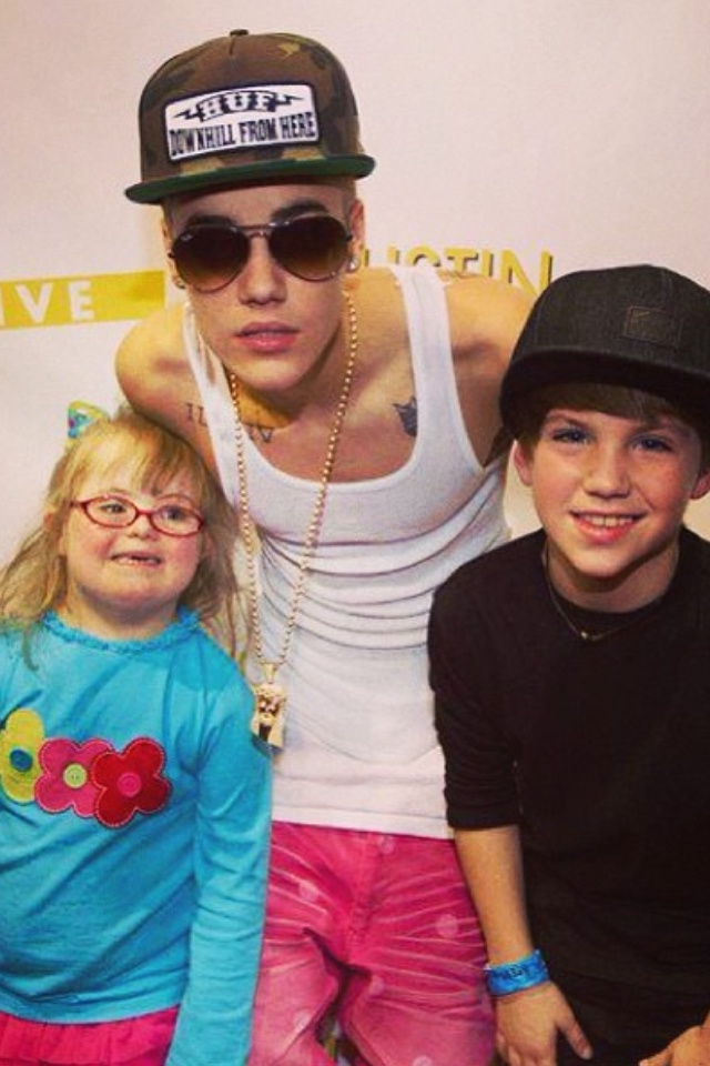 Justin bieber matty b and his sister