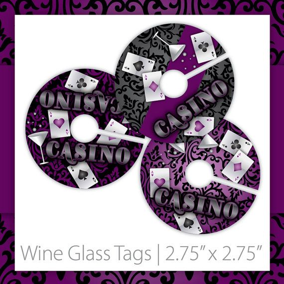 Casino Party Wine Markers . PRINTABLE . Purple Velvet Casino . INSTANT DOWNLOAD ~ $6.00 ~ Casino Wine Markers, Casino Wine Labels, Casino Wine Tags, Casino Party Wine Markers, Casino Night Wine Markers, Casino Party Wine Markers, Casino Party Wine Tags, Casino Night Wine Tags, Purple Casino Night, Poker Party, Casino Theme Party, Damask Casino, Casino Birthday, Casino Retirement ~ #casinowinemarkers #casinodecorations #casinonight ~ https://www.etsy.com/listing/123032190