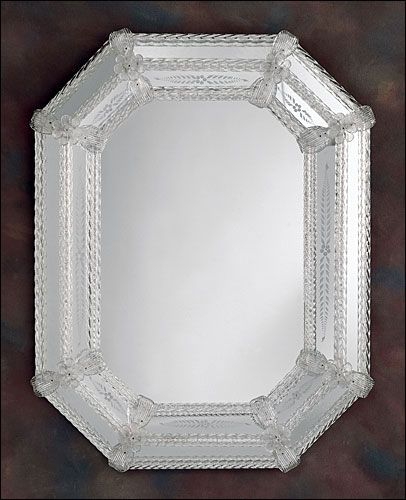 Best of Venetian mirror with hand etched glass trimmed with glass ribbons and rosettes Details Minimalist - Latest venetian glass mirror Simple