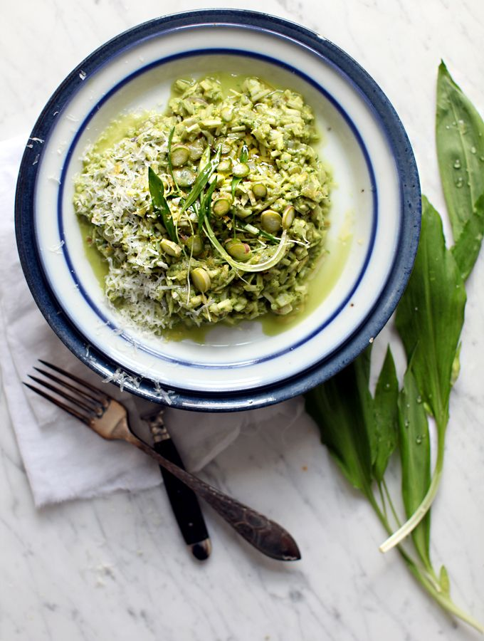 rice-less asparagus risotto