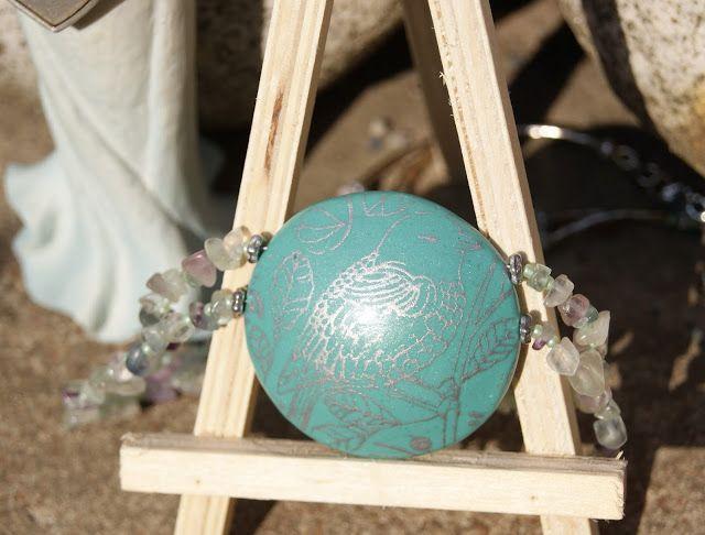 Лавандовый домик: Колье из полимерной глины