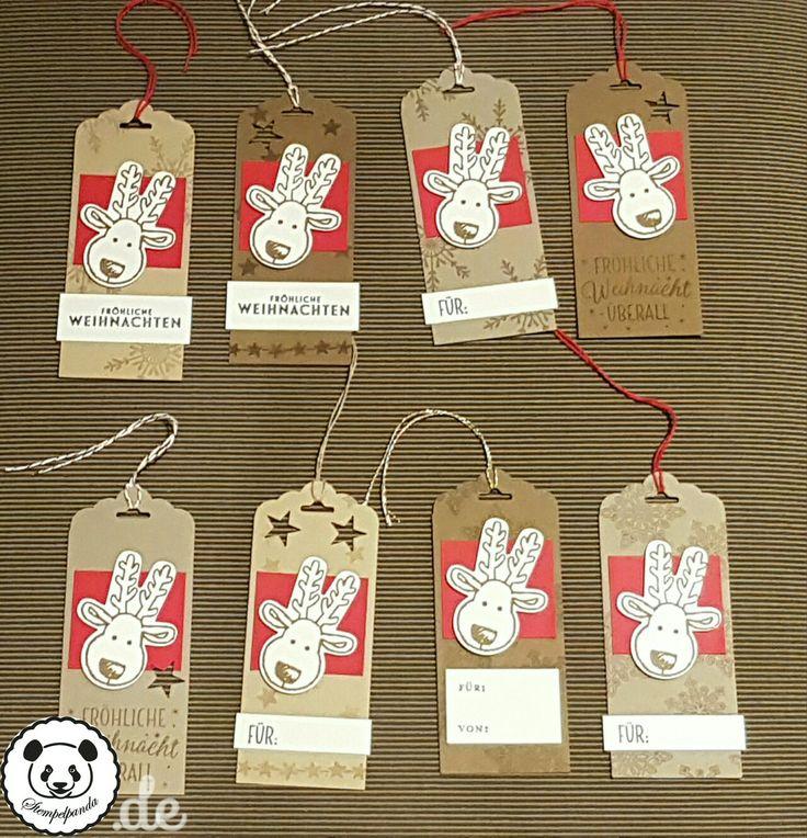 Stampin up, Stempelpanda, SU, Weihnachten, Christmas, Anhänger, Ausgestochen weihnachtlich, Cookie Cutter