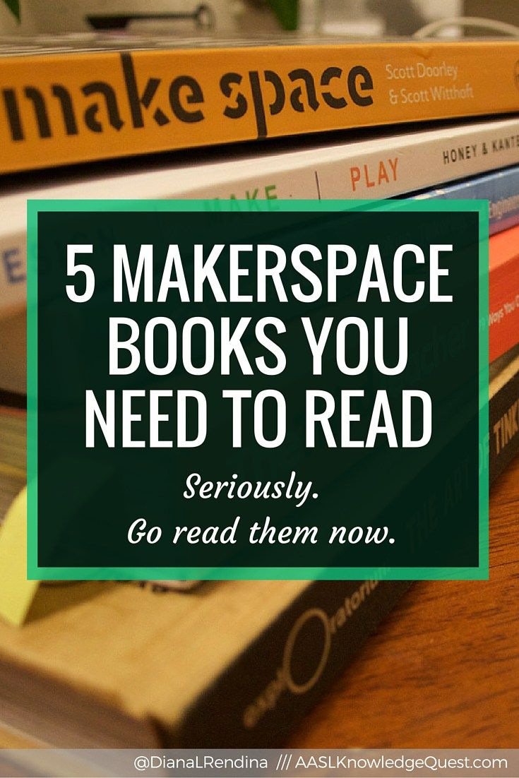 5 Makerspace Books You NEED to Read   In my AASL Knowledge Quest post, I talk about the five Makerspace books that had a huge influence on me when I was first starting our makerspace in 2014.   RenovatedLearning.com