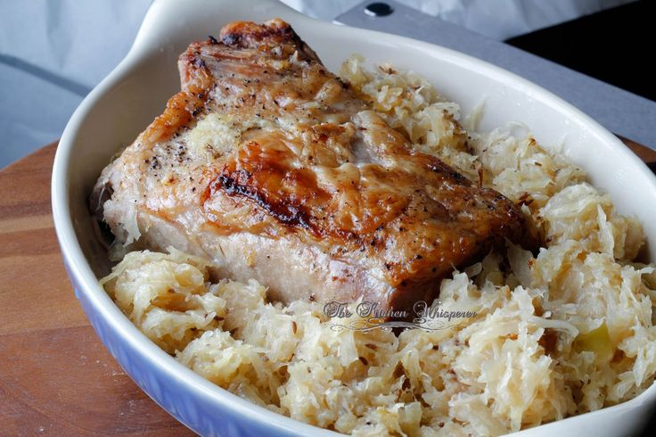 New year pork roast and sauerkraut