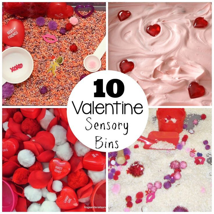 The very best sensory bins for kids for Valentine's Day!