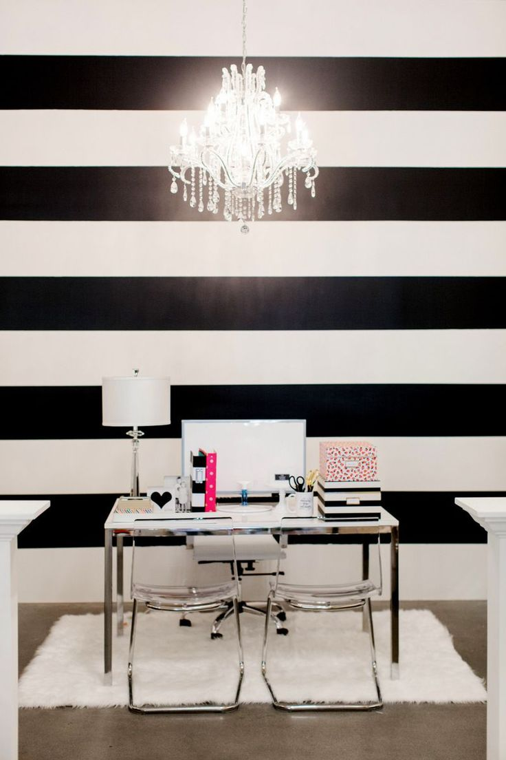 Design Black And White Office best 25 feminine office decor ideas on pinterest the black and white striped wall