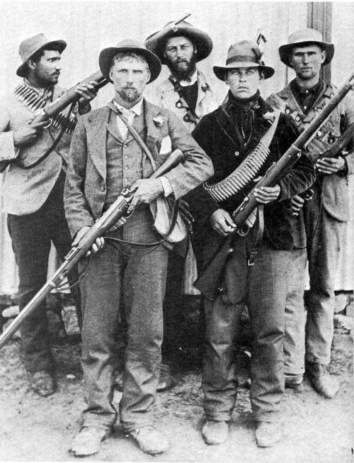 A unit of young Boer commandos, South Africa, 1899-1902.