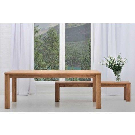 New Mobel Kubus Oak dining table opt slot in leaf