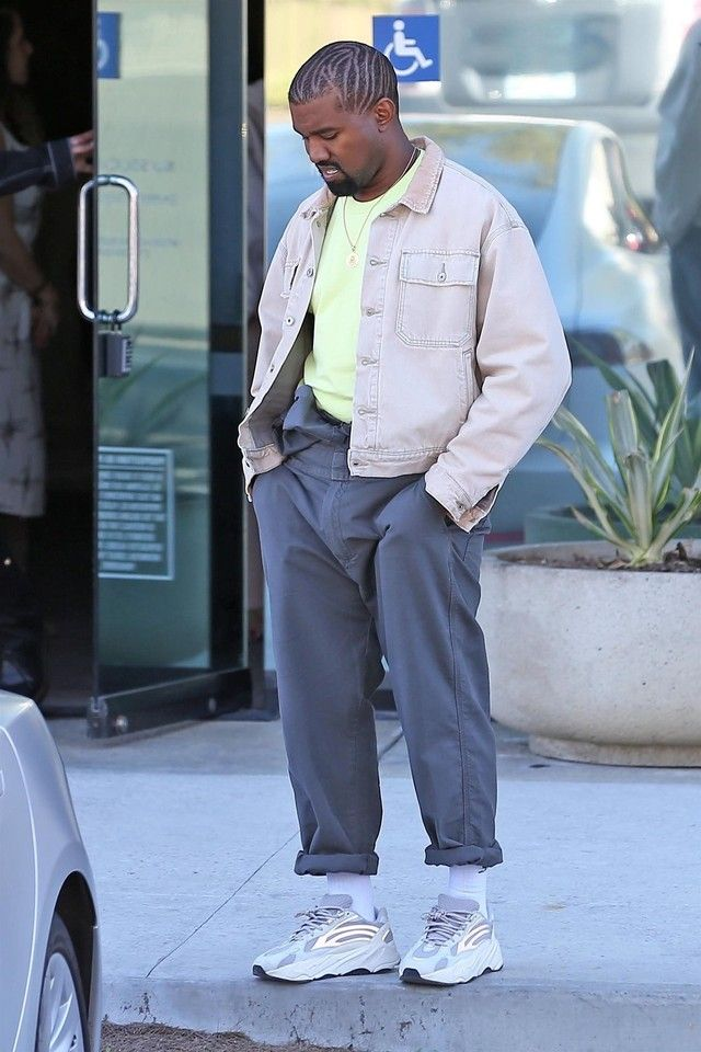 8ccc9d8ab Kanye West wearing Adidas Yeezy 700 V2 Static