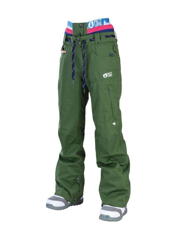 Picture Organic Clothing Ladies Ski Snowboarding Pants Slany Kaki Green | f riders inc