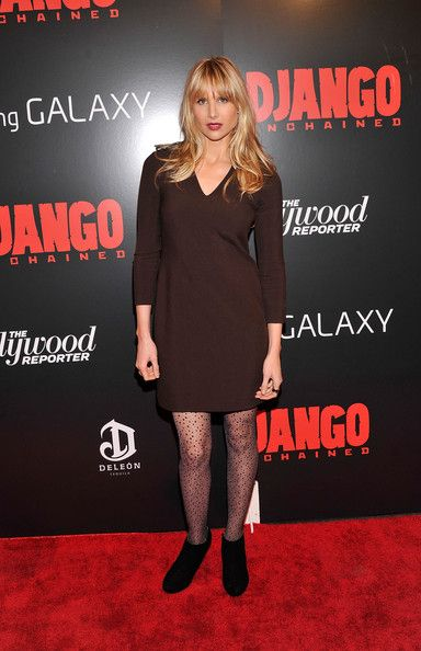 """Lucy Punch attends a screening of """"Django Unchained"""" hosted by The Weinstein Company with The Hollywood Reporter, Samsung Galaxy and The Cinema Society at Ziegfeld Theater on December 11, 2012 in New York City."""