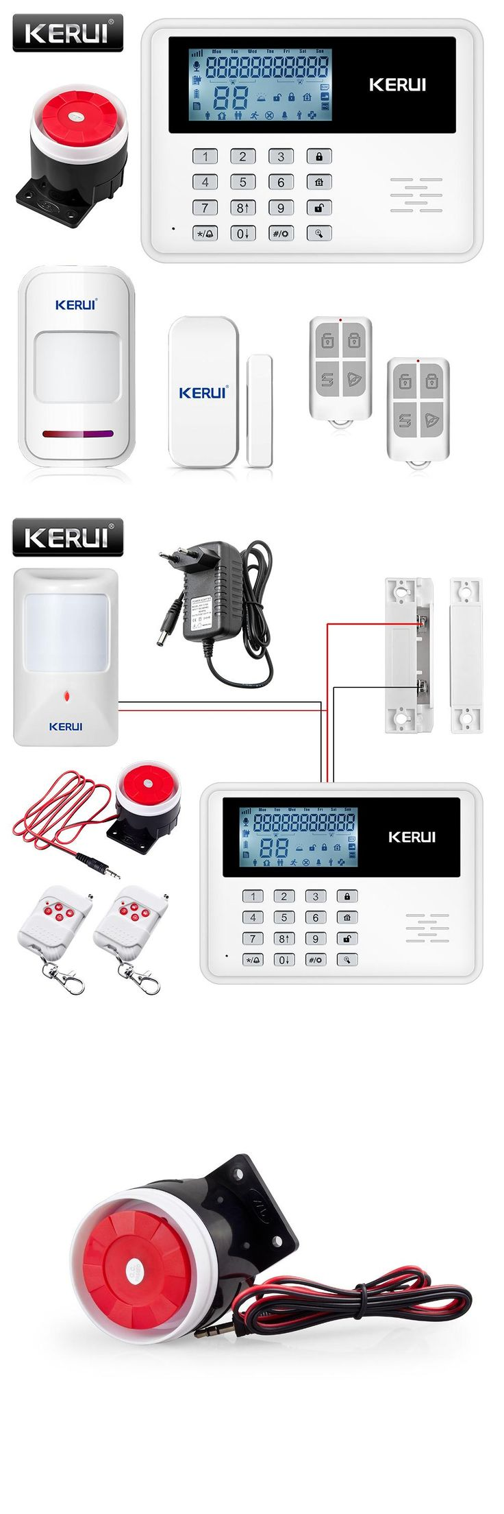 [Visit to Buy] KERUI 5900G GSM Alarm System Wireless Wired Alarm Systems Security Home Alarm APP Control LCD speaker Keyboard Sensor Alarm #Advertisement