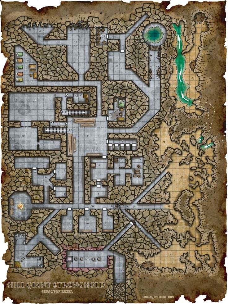 Fantasy Maps by Robert Lazzaretti | Hill Giant Stronghold