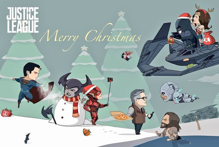 Justice Leaguers celebrating Christmas #JusticeLeague #Christmas #MerryChristmas #Superman #Batman #WonderWoman #TheFlash #Aquaman #Cyborg #Alfred #Steppenwolf #DCcomics