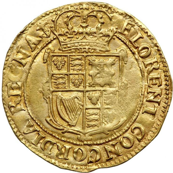 Great Britain. Unite, ND. NGC AU S.2687; Fr-246. Charles I, 1625-1649. Tower mint under the King. Class B, Class 1a. Mint mark anchor A / anchor B (obverse/reverse) (1628/1629) bust 2a. Obverse, King's portrait left, XX (Twenty shillings) to right. Reverse, crowned coat of arms within a scrolled frame. Type as Schneider 124. Very attractive. Struck on a large round flan, nicely centered and glowing with full original luster. All lettering well struck up, and a superb portrait of England's…
